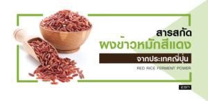 สารสกัดจากผงข้าวหมักสีแดง ประเทศญี่ปุ่น (Red Rice Ferment Powder)
